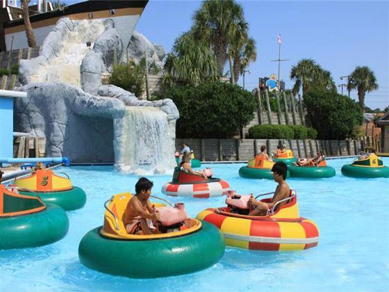 Bumper Boats at Wild Water & Wheels, Myrtle Beach, South Carolina