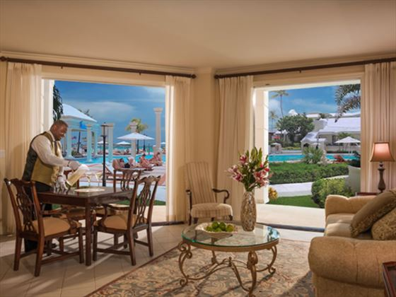 aace62540661 ... Sandals Royal Bahamian Spa Resort Gordons on the Pier Restaurant  Windsor Oceanview Walkout One Bedroom Butler Royal Suite