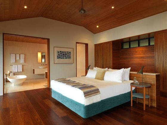 Windward Pavilion bedroom at Qualia