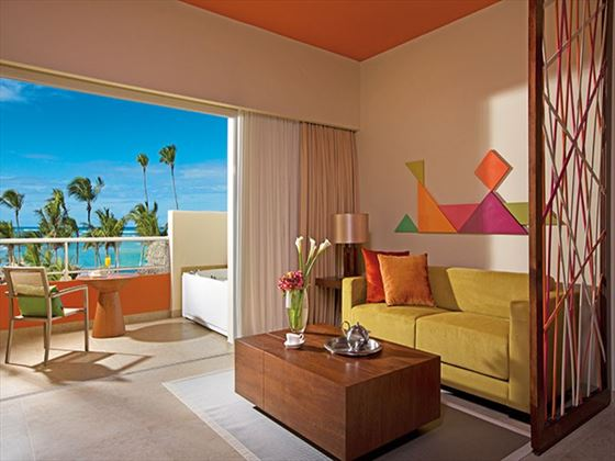 Xhale Club Junior Suite terrace at Breathless Punta Cana