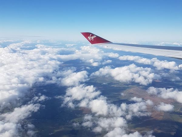 arieal view virgin atlantic