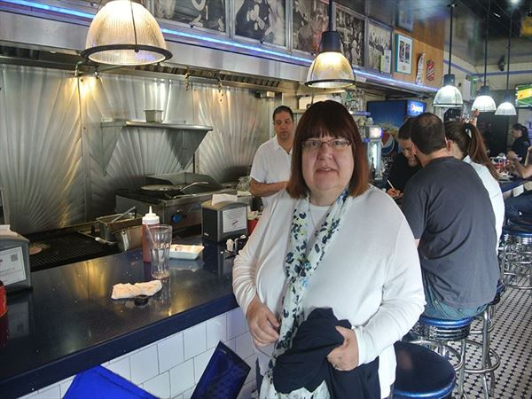 yvonne in boston diner