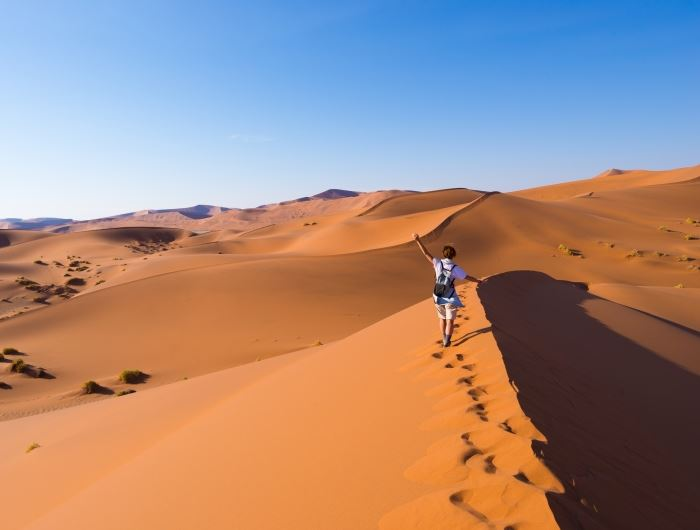 Person in Sossusvlei - getty