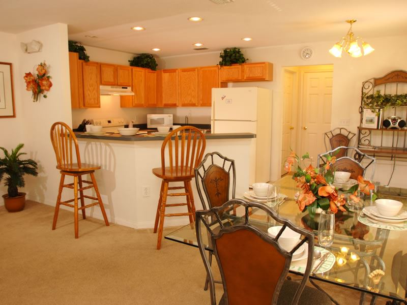 Typical kitchen / dining area