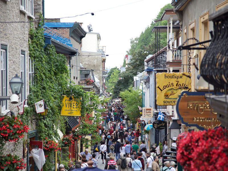 Quartier Petit Champlain in Old Quebec CR