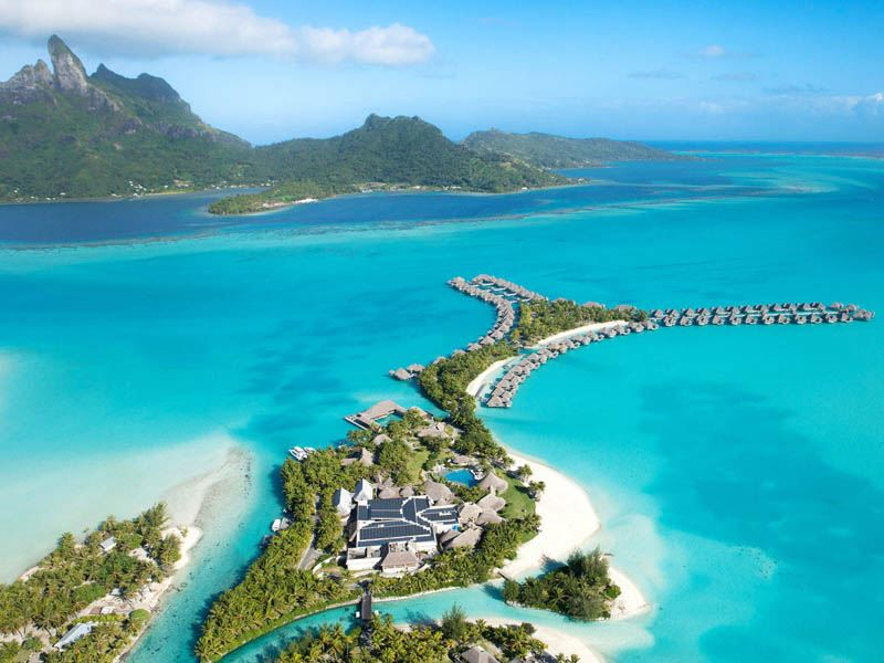 St Regis Bora Bora aerial1