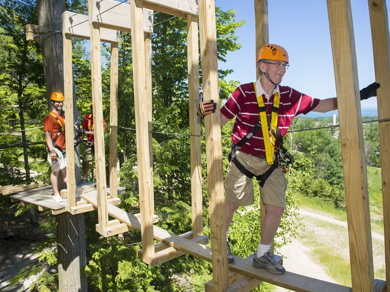 aerial adventure trail at blue mountain resort