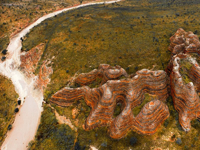 aerial view bungle bungles