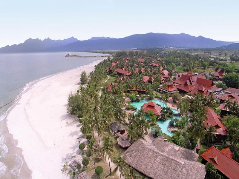 aerial view of meritus pelangi beach resort  spa