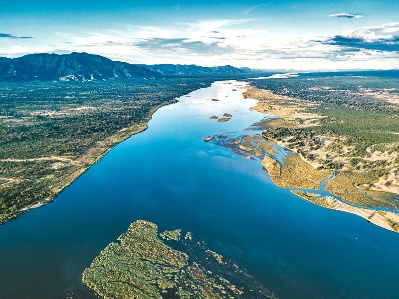 aerial view zambezi