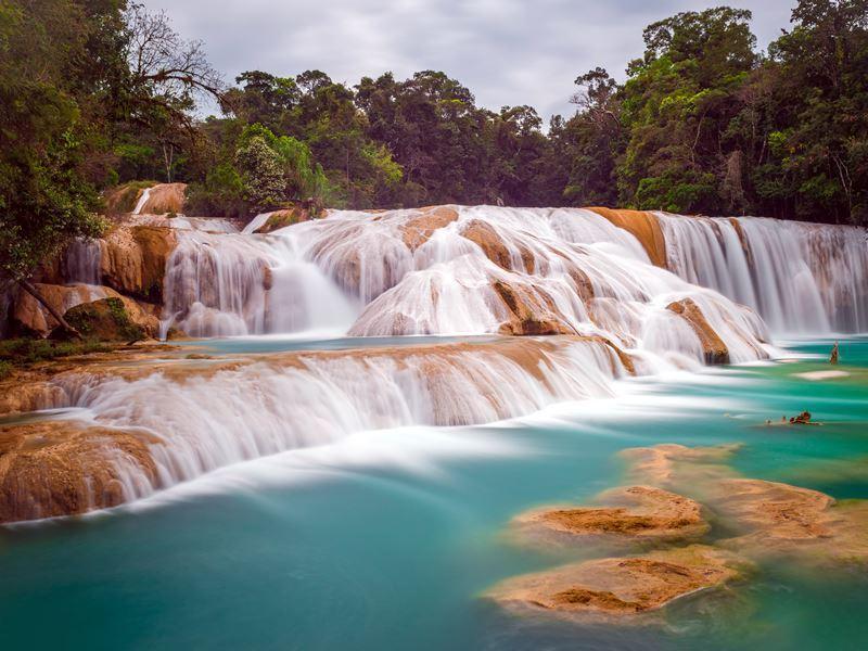 agua azul waterfall mexico