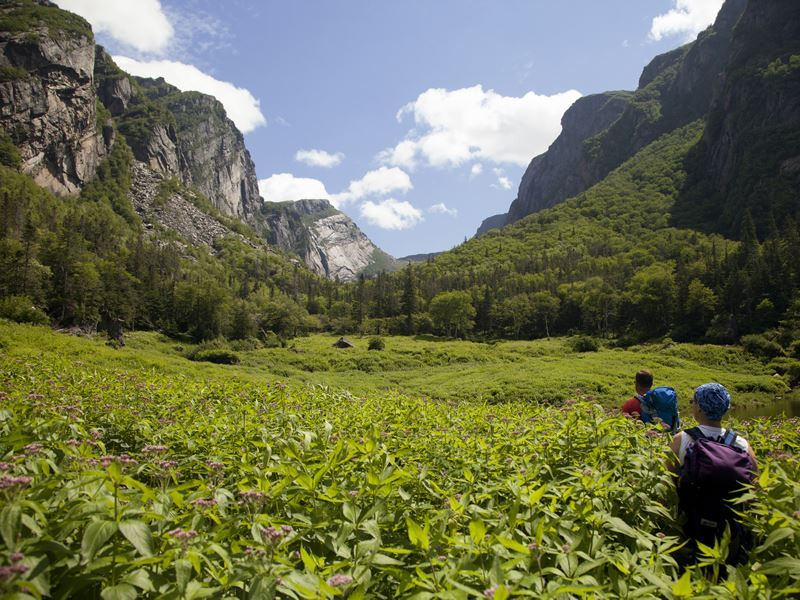 backcountry hiking western brook pond fjord gros morne