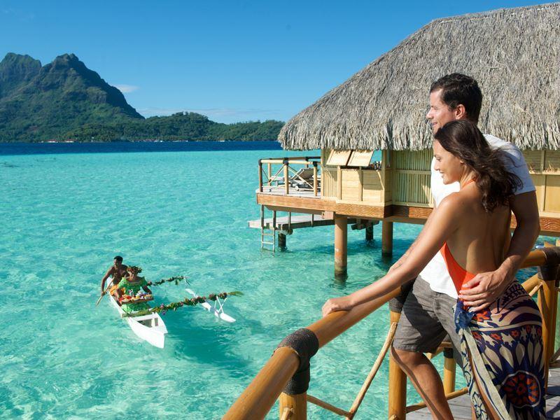 bora bora pearl beach resort overwater bungalow