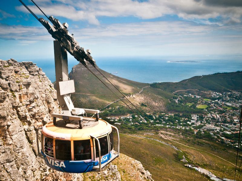 cable car along table mountain cape town