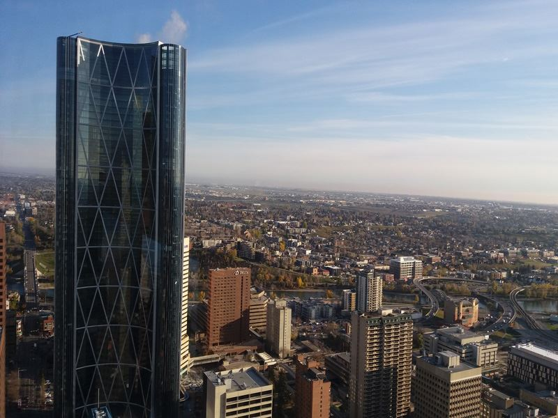 calgary view from tower