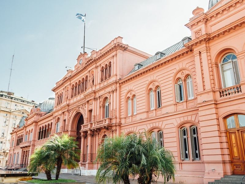 casa rosada presidential palace in buenos aires argentina