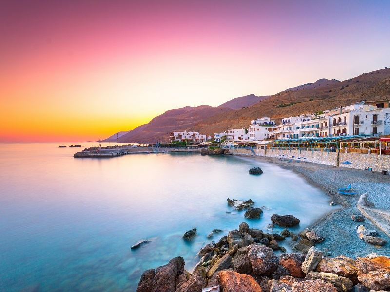 sunset in chania, crete