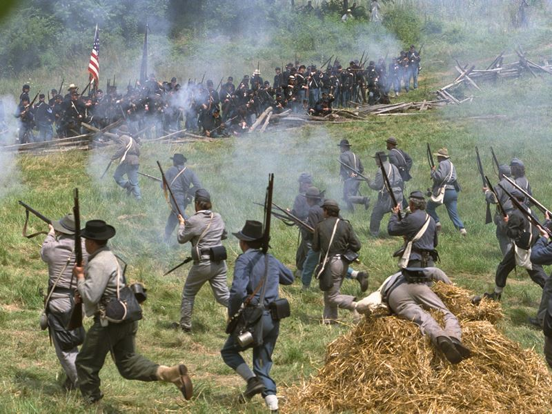 American Civil War reenactment in Maryland