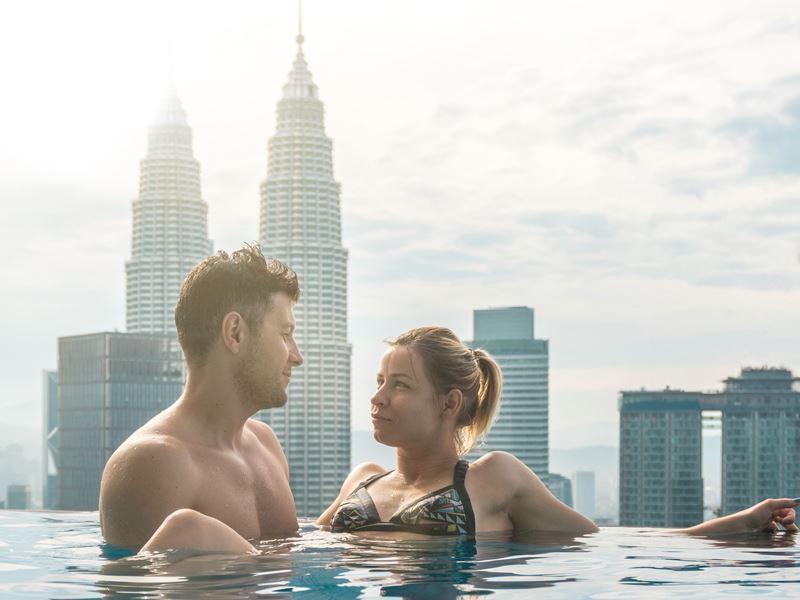 couple rooftop pool kuala lumpur