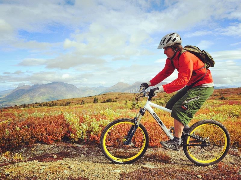 cycling montana mountain trail yukon