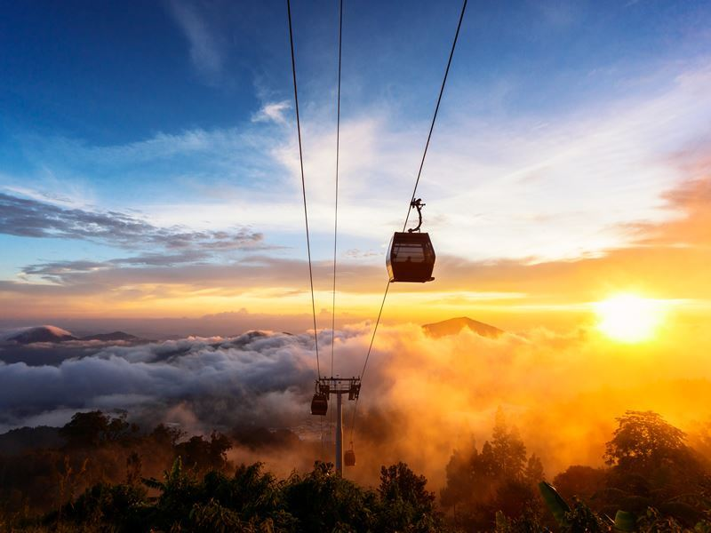 dramatic scene genting cable car langkawi