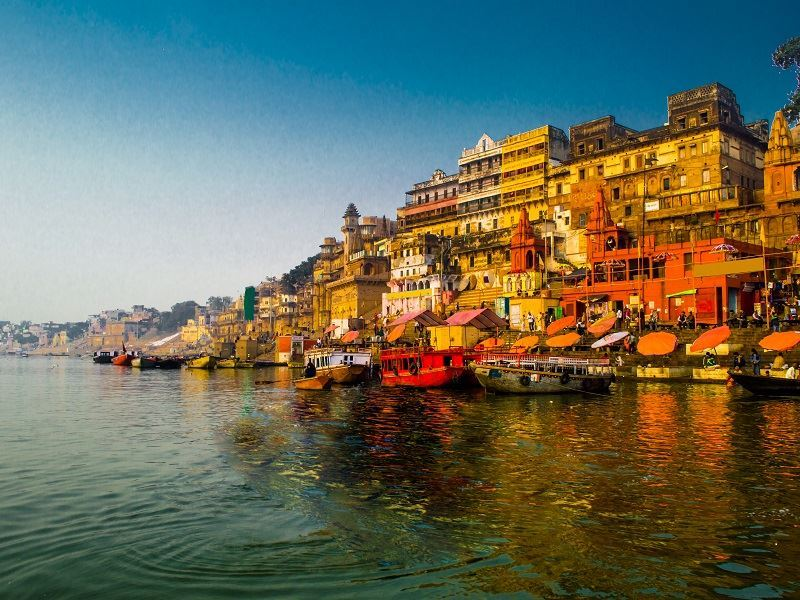 early morning varanasi river ganges north india