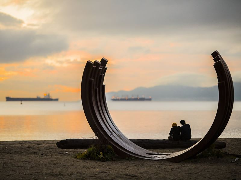 english bay sunset vancouver