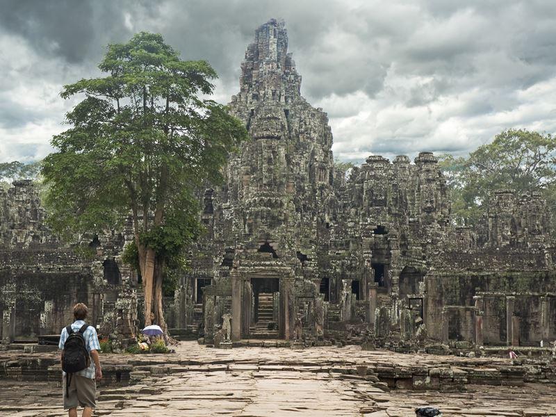 exploring angkor thom cambodia