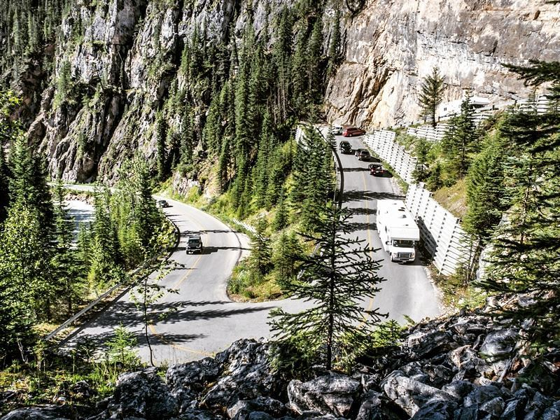 Exploring the roads around Yoho National Park