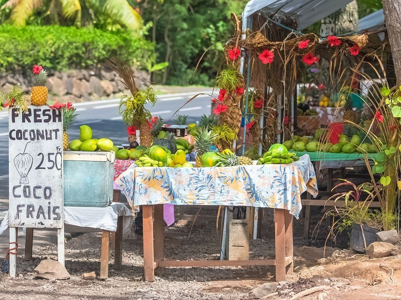 Fruit stall in Tahiti