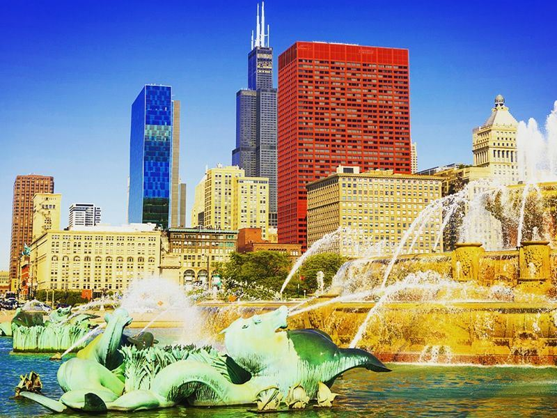 grant park chicago in the summer