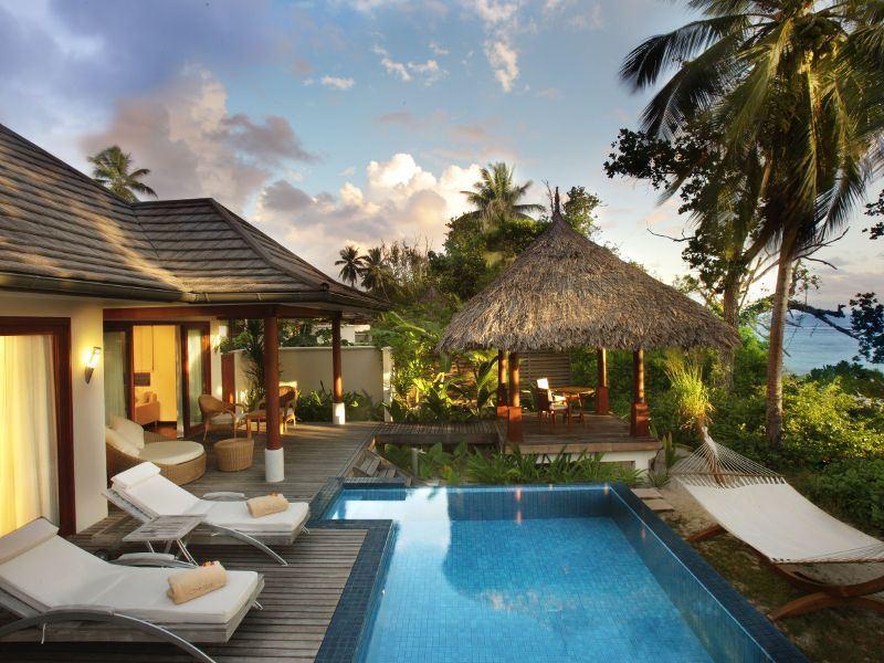 hilton seychelles labriz deluxe beachfront pool villa exterior