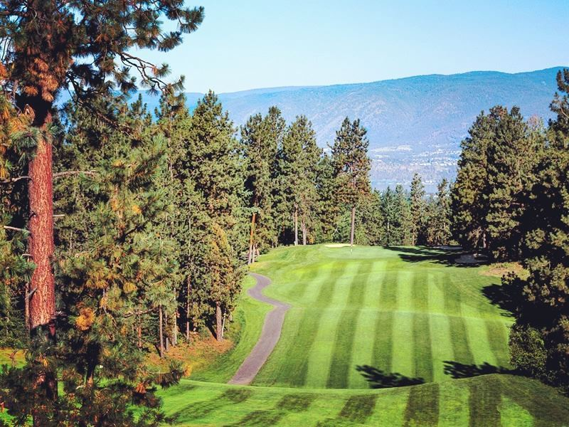 hole 15 at gallaghers canyon golf country club kelowna