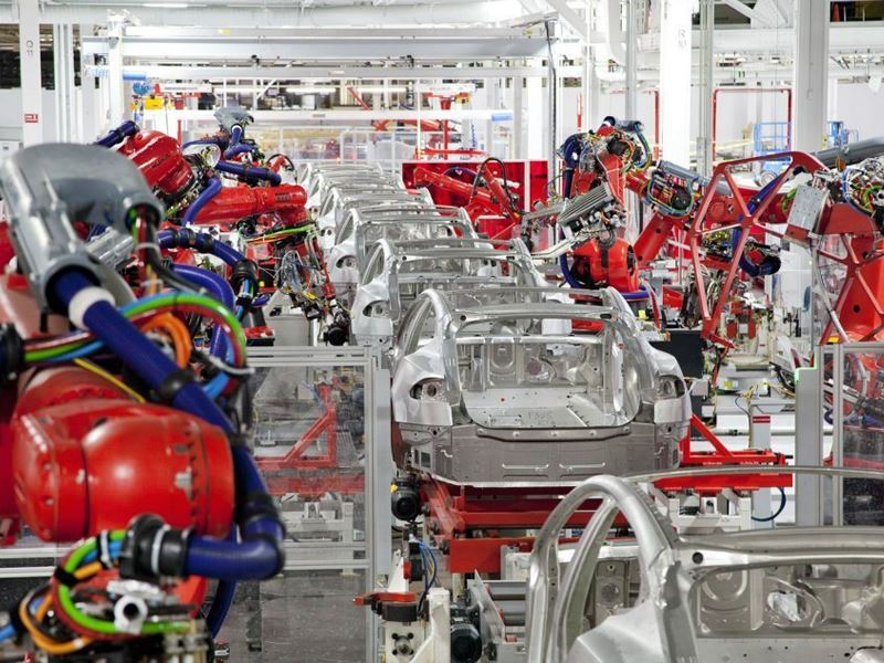 inside tesla making model s