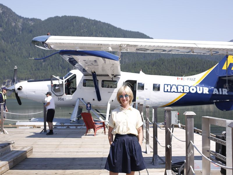 jane horrocks on whistler float plane