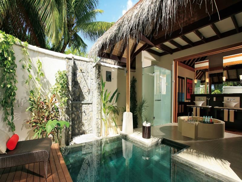 lux maldives beach pool villa