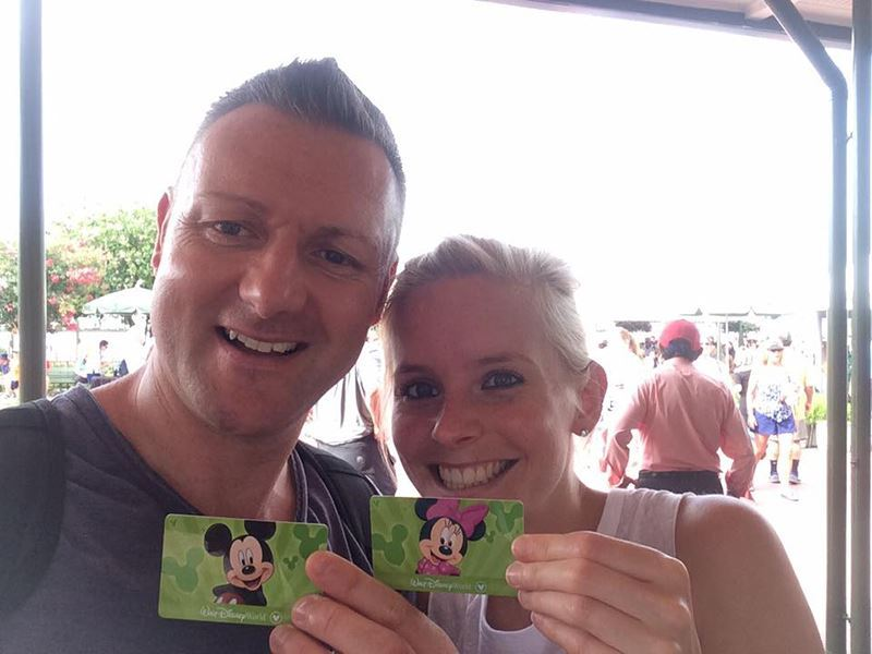 Rebecca & Jonathan with Disney Passes