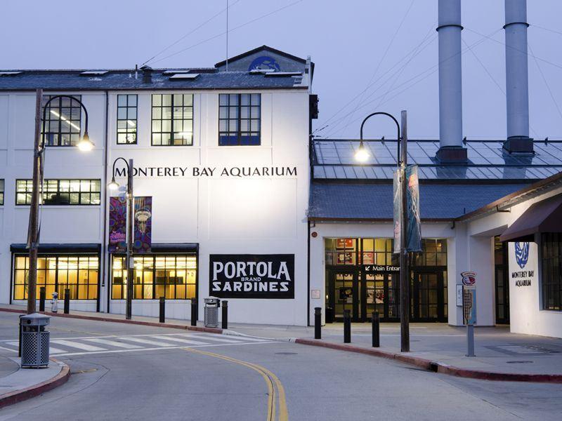 Monterey Bay Aquarium along Cannery Row