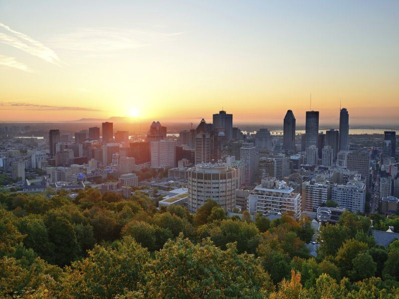 montreal at sunrise