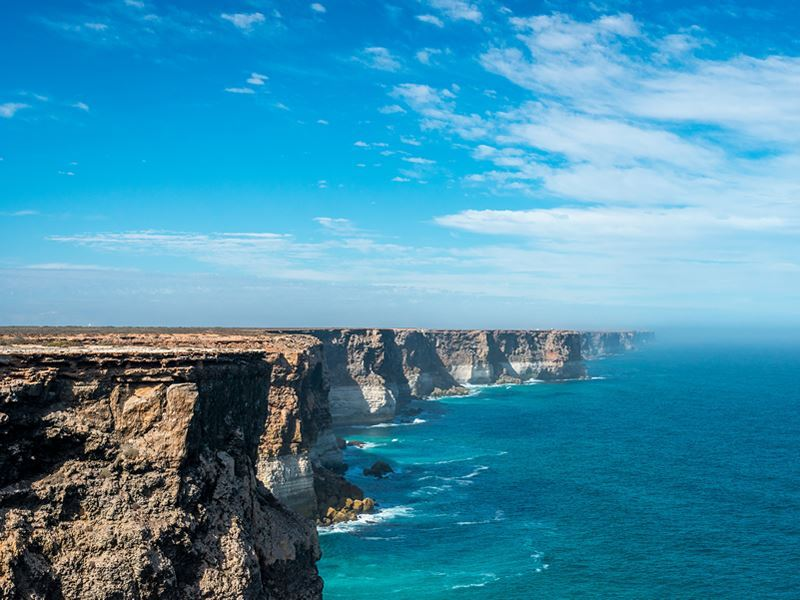 nullarbor cliff coastline