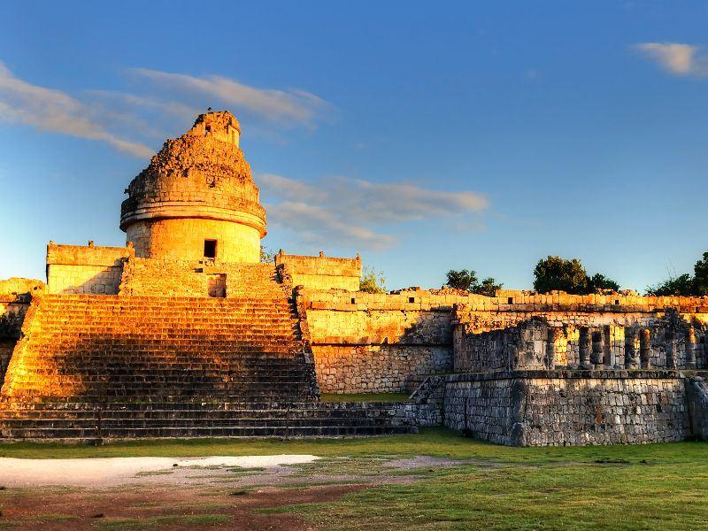 observatory at chichen itza riviera maya