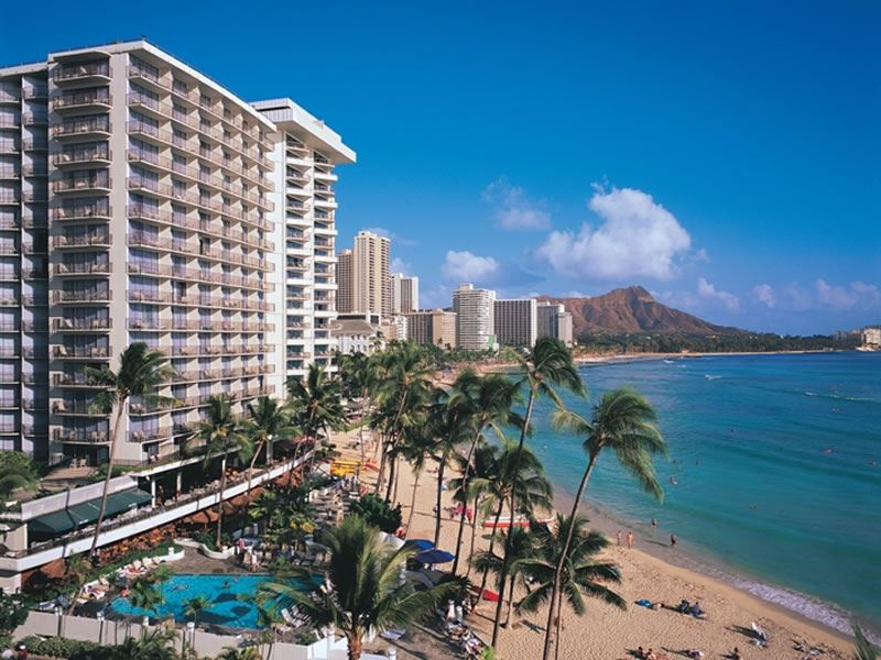 outrigger waikiki on the beach hotel waikiki beach exterior from beach