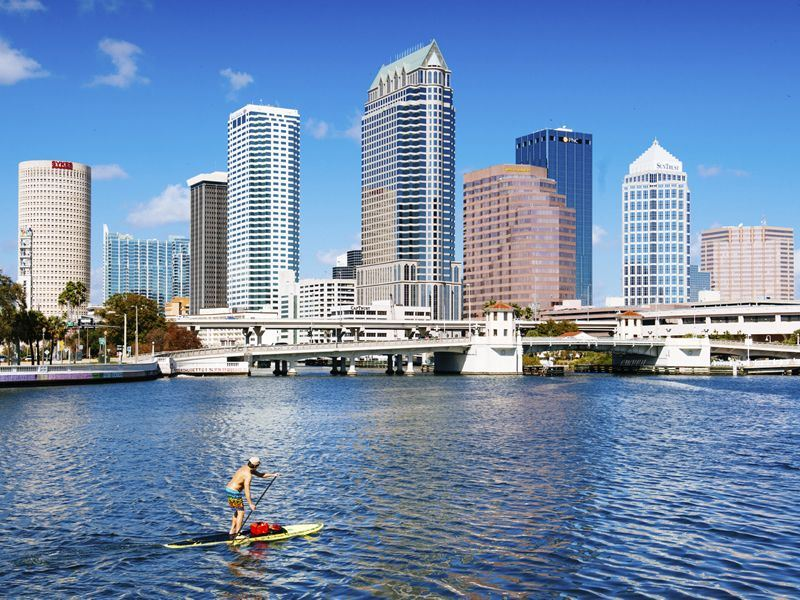 paddle boarding in tampa