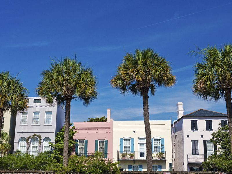 pastel colour homes of charleston