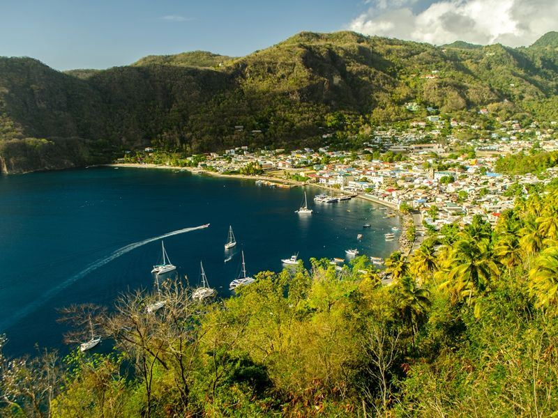 picturesque soufriere bay