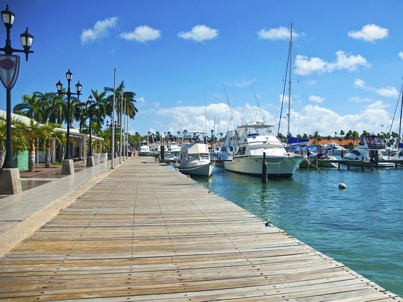 Aruba port and boardwalk