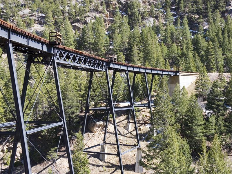 rail trestle in the rockies colorado