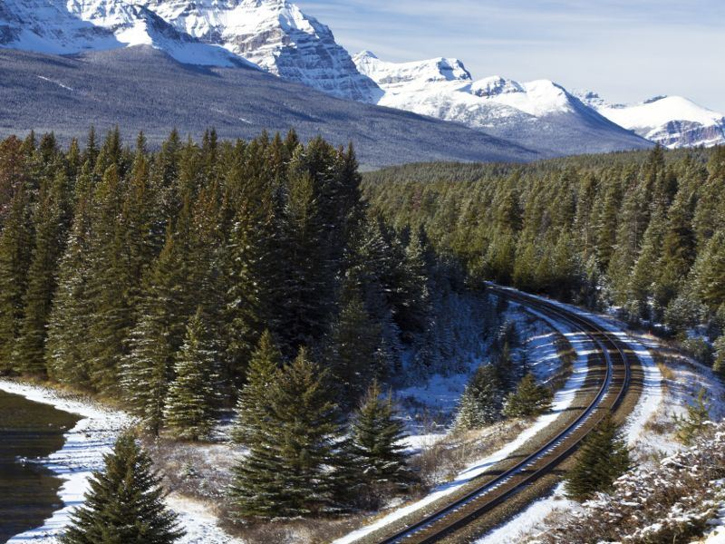 railroad in the canadian rockies