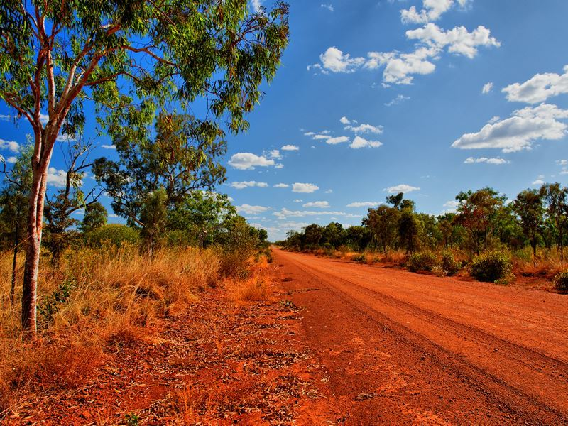 road in outback northern territory