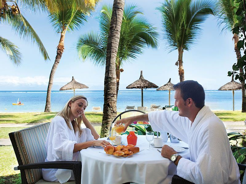 romantic breakfast at sugar beach mauritius